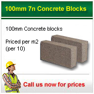 100mm 7n/mm2 solid concrete blocks from only £7.95+vat per m2