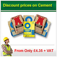 portland Cement from only £3.80+vat per bag